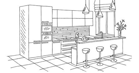rysunek kuchni