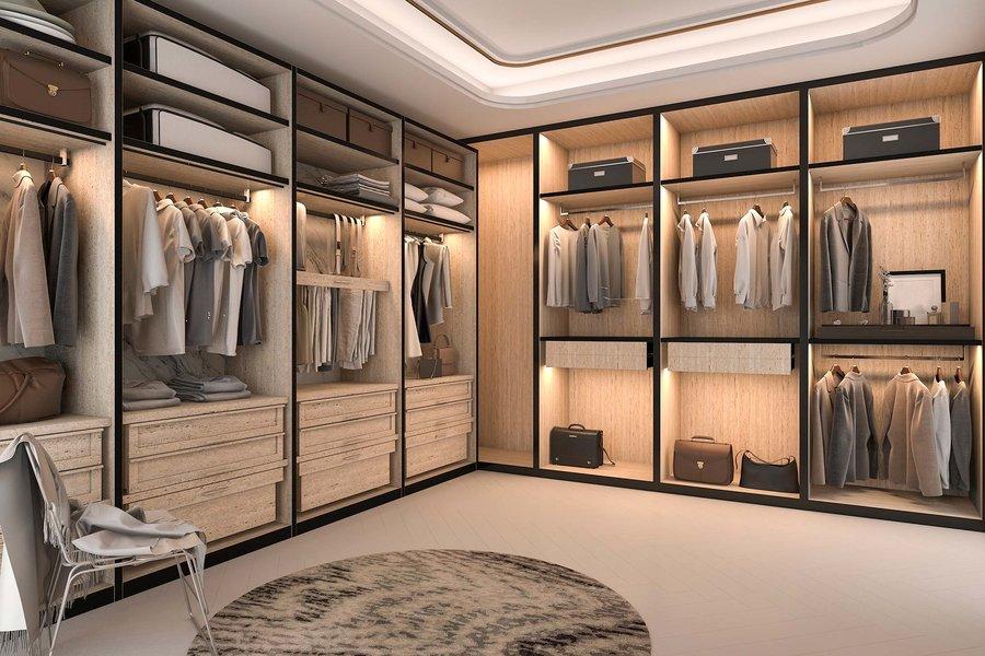 pojemna garderoba