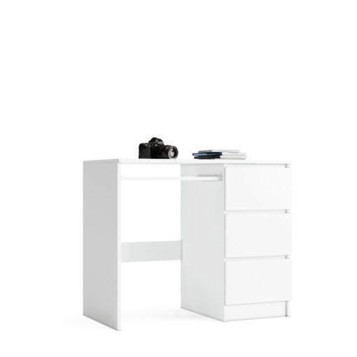 białe biurko z szufladami na wymiar