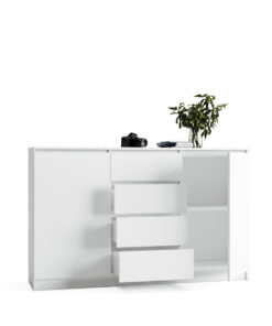 komoda biała pojemna